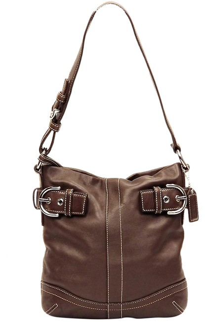 Coach Duffle 1453 Slim Convertible Brown Leather Shoulder Bag Coach Duffle 1453 Slim Convertible Brown Leather Shoulder Bag Image 1