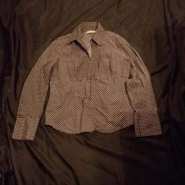 Preload https://img-static.tradesy.com/item/24752380/cato-brown-and-white-polka-dot-shirt-fits-to-button-down-top-size-12-l-0-0-650-650.jpg