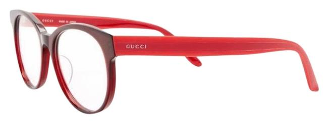 Gucci Red/Burgundy 52mm Rounded Cat Signature Adjustable Sunglasses Gucci Red/Burgundy 52mm Rounded Cat Signature Adjustable Sunglasses Image 1