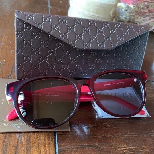Gucci Authentic Gucci 52mm Rounded cat Signature adjustable sunglasses Image 1