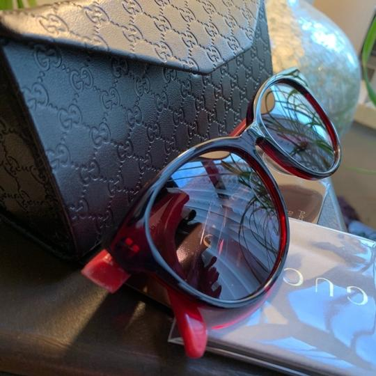 Gucci Authentic Gucci 52mm Rounded cat Signature adjustable sunglasses Image 3