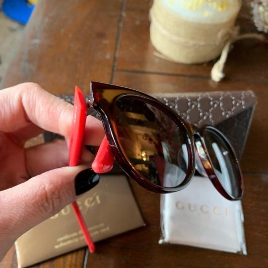 Gucci Authentic Gucci 52mm Rounded cat Signature adjustable sunglasses Image 4