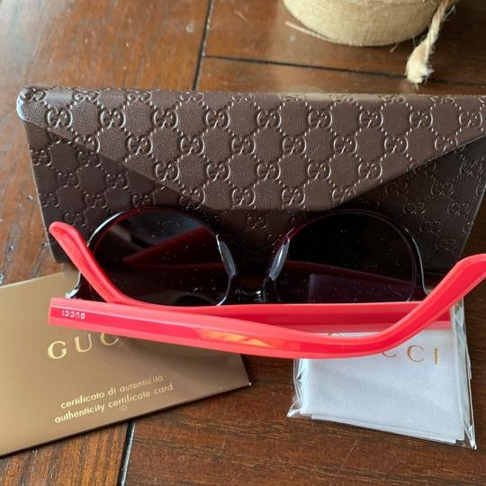 Gucci Authentic Gucci 52mm Rounded cat Signature adjustable sunglasses Image 5