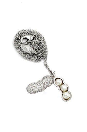 Ocean Fashion Sterling silver peanut crystal pendant necklace Image 1