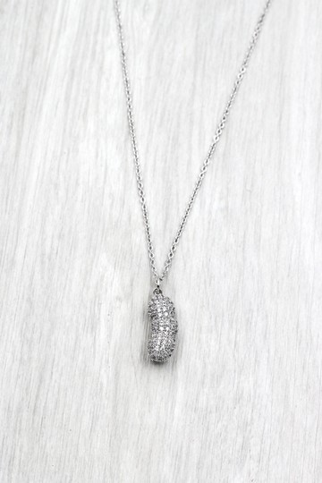 Ocean Fashion Sterling silver peanut crystal pendant necklace Image 3