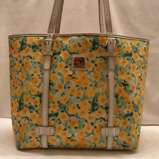 Dooney & Bourke Tote in yellow and white Image 1