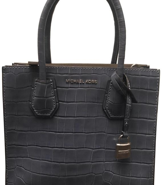 Michael Kors Crossbody Mercer Studio Mini Denim Blue Croc Embossed Leather Tote Michael Kors Crossbody Mercer Studio Mini Denim Blue Croc Embossed Leather Tote Image 1