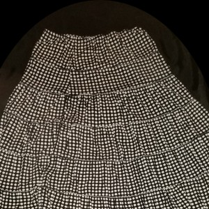 Max Studio Maxi Skirt Brown and white dots