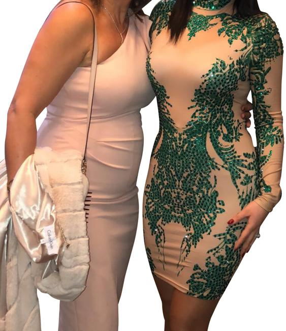 Preload https://img-static.tradesy.com/item/24752467/emerald-green-and-nude-fj-short-cocktail-dress-size-4-s-0-2-650-650.jpg