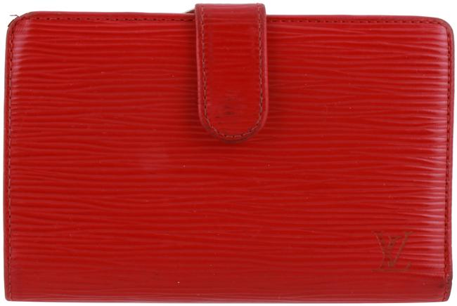 Louis Vuitton Red Epi Leather French Wallet Louis Vuitton Red Epi Leather French Wallet Image 1