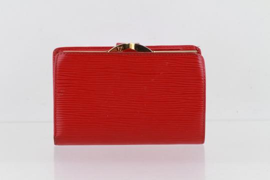 Louis Vuitton Louis Vuitton Red Epi Leather French Wallet Image 1