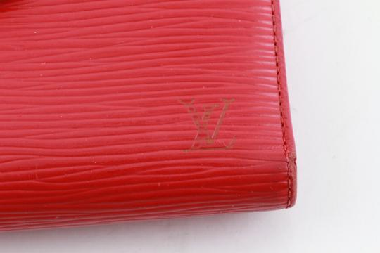 Louis Vuitton Louis Vuitton Red Epi Leather French Wallet Image 11