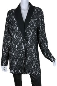Magaschoni Lace Silk Cashmere Sweater Black, Cream Blazer