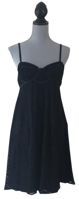 Stella & Jamie Black Embroidered Mid-length Night Out Dress Size 8 (M) Stella & Jamie Black Embroidered Mid-length Night Out Dress Size 8 (M) Image 1