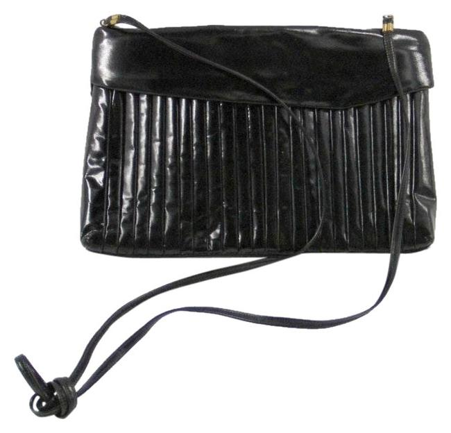 Sharif Vintage Black Vinyl Clutch Sharif Vintage Black Vinyl Clutch Image 1