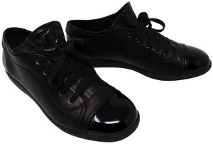 d00962968c3f Chanel Interlocking Cc Patent Leather Round Toe Gold Hardware Silver  Hardware Black Athletic