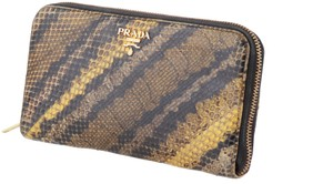 Prada Prada Natural Python Zip-Around Wallet