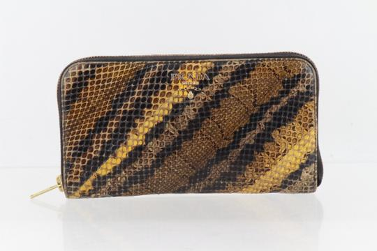 Prada Prada Natural Python Zip-Around Wallet Image 1