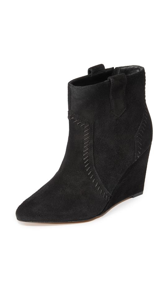 e0356d8ca45 Rebecca Minkoff Pointed Toe Wedge Blanca Western Suede black Boots Image 0  ...