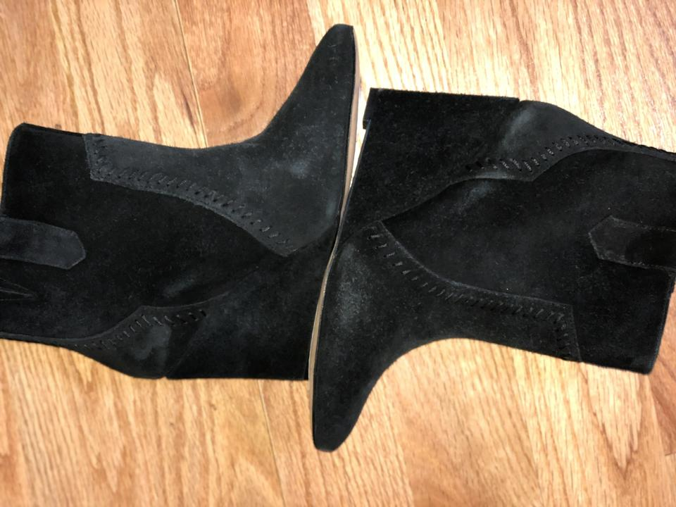 c52c6b32f62 Rebecca Minkoff Black Suede Bianca Wedge Pointed Toe Boots Booties Size US  8 Regular (M