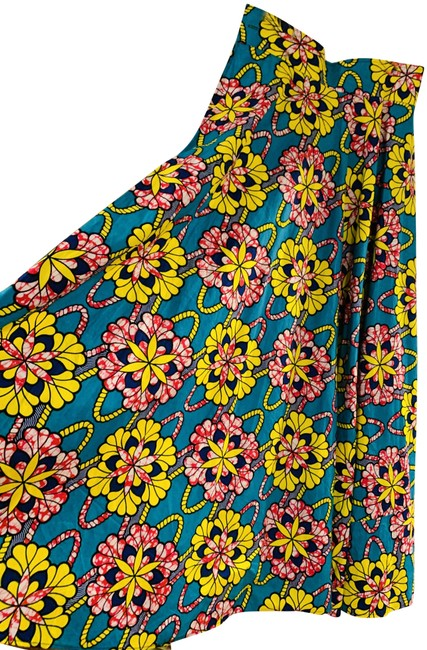 Guiltie Print Floral Maxi Skirt Turquoise Image 0