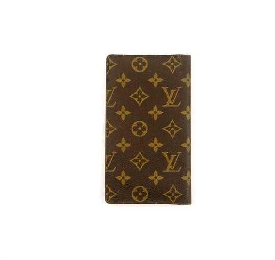 Louis Vuitton Rare Vintage Monogram Canvas Leather Oversized Long Travel Wallet Image 1