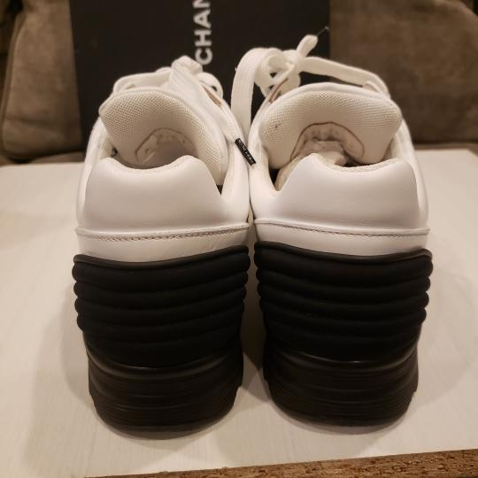Chanel Cc Sneakers Kicks Tweed White, Black Athletic Image 7