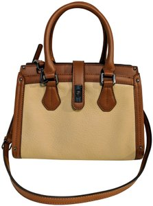 Calvin Klein Leather Satchel in Brown