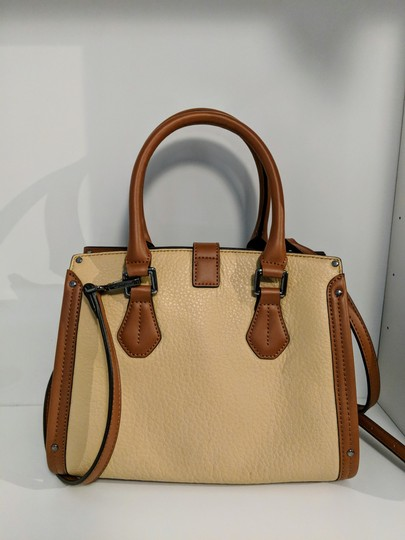 Calvin Klein Leather Satchel in Brown Image 1