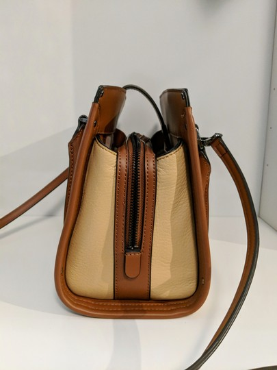 Calvin Klein Leather Satchel in Brown Image 2