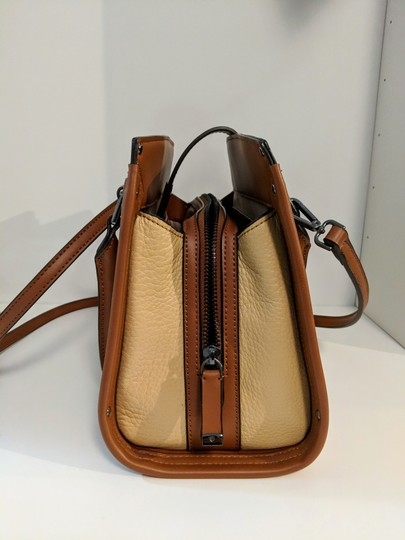 Calvin Klein Leather Satchel in Brown Image 3