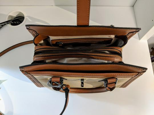 Calvin Klein Leather Satchel in Brown Image 4