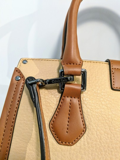 Calvin Klein Leather Satchel in Brown Image 7