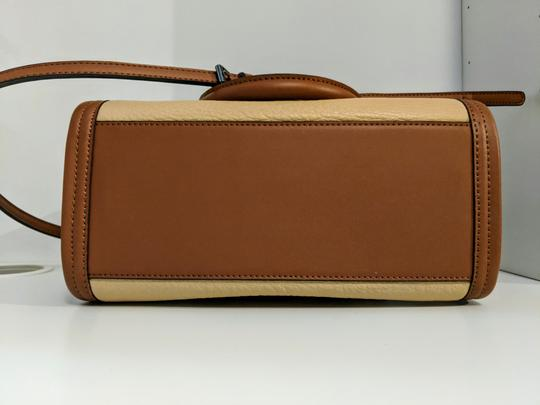 Calvin Klein Leather Satchel in Brown Image 8