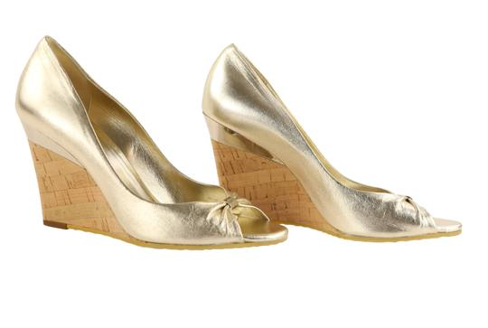 Gucci Gold Wedges Image 1
