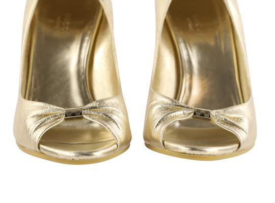 Gucci Gold Wedges Image 6