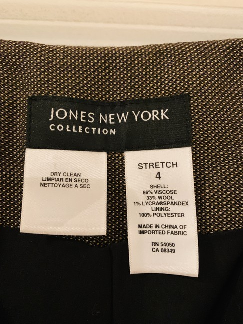 Jones New York Print Plaid Trouser Pants Brown Image 2
