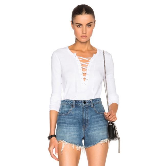Preload https://img-static.tradesy.com/item/24752915/pam-and-gela-white-lace-tee-shirt-size-4-s-0-0-650-650.jpg