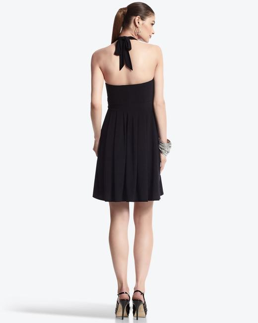 White House | Black Market Embellished Halter Matte Jersey Stretchy Dress Image 1