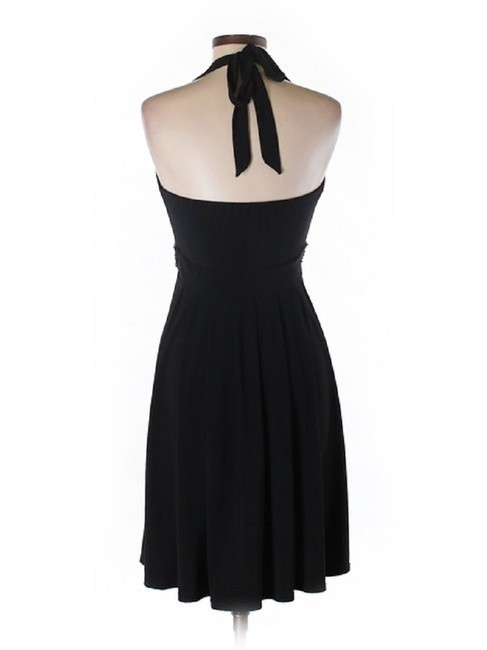 White House | Black Market Embellished Halter Matte Jersey Stretchy Dress Image 3