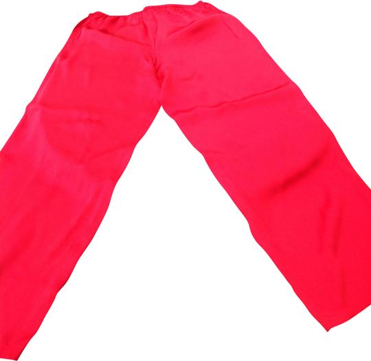 Unbranded Red silk pajama pants size medium Image 0