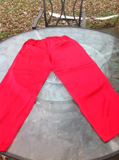 Unbranded Red silk pajama pants size medium Image 3