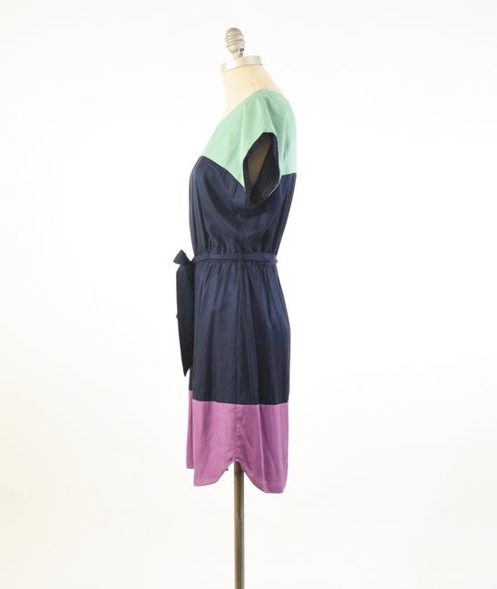 Boden short dress Navy Silk Boatneck Tie-waist Mini on Tradesy Image 3