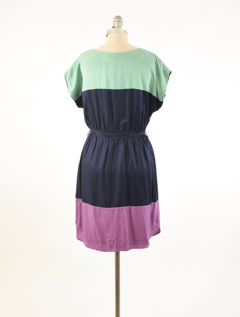 Boden short dress Navy Silk Boatneck Tie-waist Mini on Tradesy Image 4