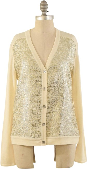 Preload https://img-static.tradesy.com/item/24753019/jmclaughlin-gold-metallic-cardigan-size-8-m-0-1-650-650.jpg