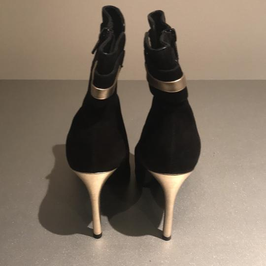 Laundry by Shelli Segal Stiletto Black Suede/Metallic Silver Boots Image 2
