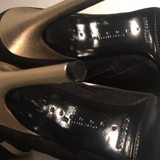 Laundry by Shelli Segal Stiletto Black Suede/Metallic Silver Boots Image 5