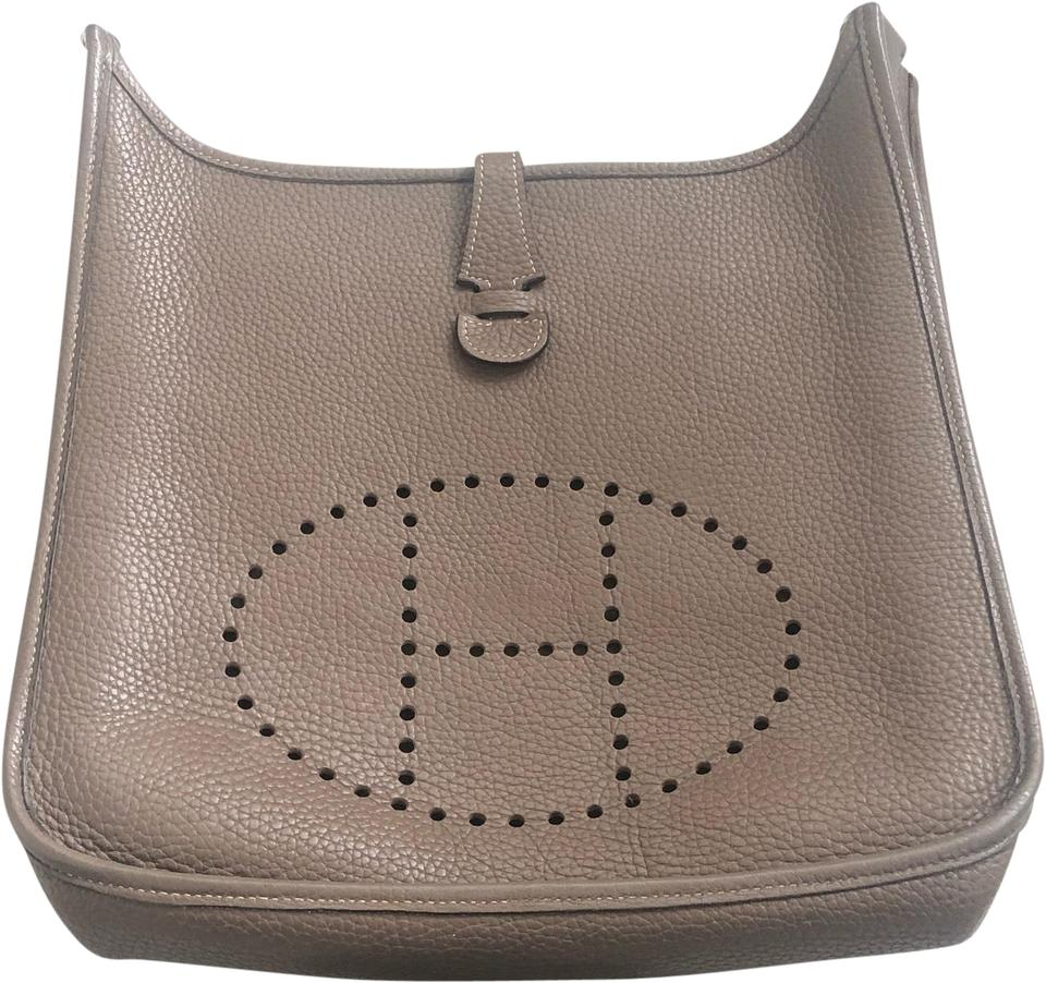 e8b5cd8e37c4 Hermès Evelyne Pm Gen 1 Taupe Leather Cross Body Bag 60% off retail