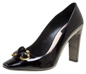 Dior Patent Leather Leather Black Pumps