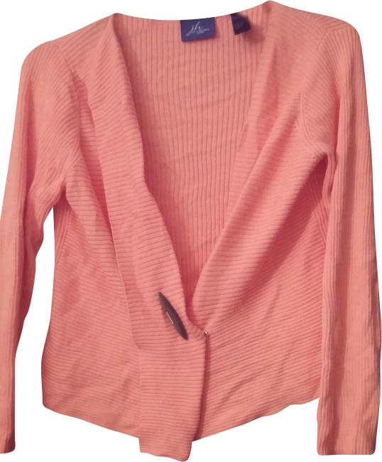 Preload https://img-static.tradesy.com/item/24753102/kim-rogers-wooden-button-size-xl-coral-pink-sweater-0-1-650-650.jpg